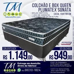 Conjunto Queen Plumatex Sonata Black 26CM Molas Verticoil! 12x Sem Juros