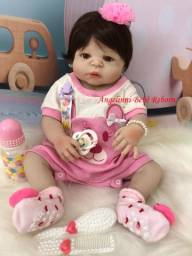 Título do anúncio: Bebê Reborn Paloma Silicone Pronto Envio! Com Enxoval