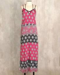 Vestido strappy rosa escuro boho