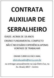 Auxiliar de Serralheiro/Metalurgico