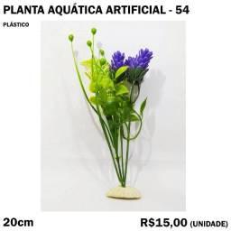 Planta com Flor Roxa para Aquário