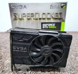 Placa de vídeo Evga GTX 1050Ti 4GB SuperClocked - Na caixa completa!