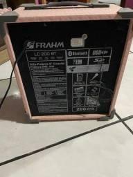 Caixa De Som Amplificada Frahm LC20; 50W Rosa.