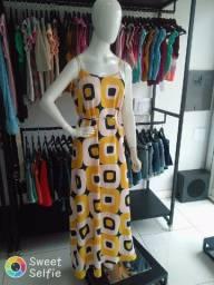 Vestido estampa amarelo