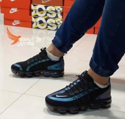 Tênis Nike vapor mas utility preto azul.