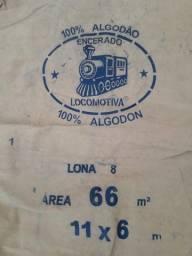 Lona Encerado Locomotiva FIO 8 11x6 - Ótimo Estado