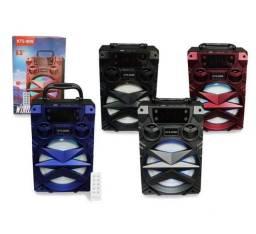 Caixa de Som Grande Portátil Bluetooth Mp3 Pendrive