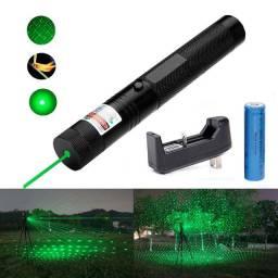 Super Caneta Laser Pointer 20000mw Verde 18km Longo Alcance