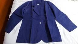 Blazer azul-marinho 100% linho W. Spencer