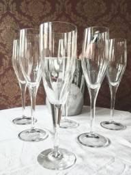 6 Taças para Champanhe de vidro (Seminovas)