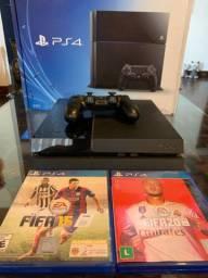 Playstation 4 500GB + Fifa 19/15
