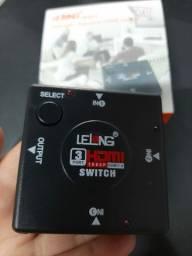Switch HDMI 3 entradas e 1 saida