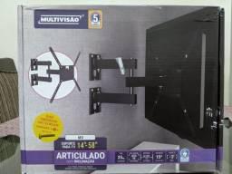 """Suporte Articulado TV 58"""" NOVO"""
