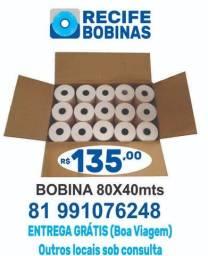 Título do anúncio: Bobina Térmica 80x40 - Caixa Com 30 Rolos
