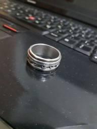 Anel giratorio em prata masculino aro 22