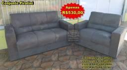 Conjunto de sofá 2e3 lugares- direto de fábrica