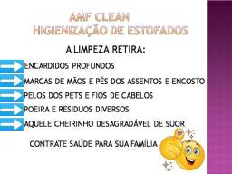 Higienização / lavagem a seco de estofados