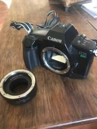 Canon EOS 630 de analógica com extensor de EF 25