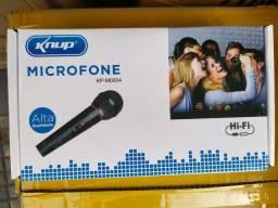 Microfone  com fio novo garantia