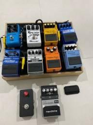 Set de pedal de guitarra pedaleira