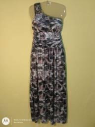 Vestido longo Malha fria com bojo G ( 42,44 )