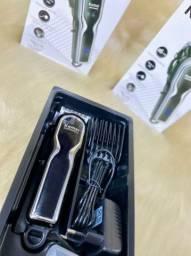 Máquina de cortar cabelo KEMEI recarregável