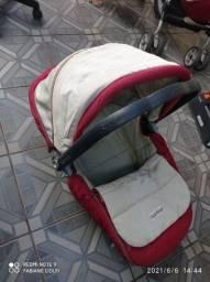 Kit carrinho de bebê com Moisés e bebê conforto