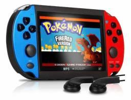 Título do anúncio: Vídeo Game Portátil RED & BLUE MP5 Tela 4.3 8GB + de 1000 Jogos