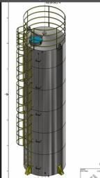 Vendo caixa de água reservatório metálico 40 mil litros