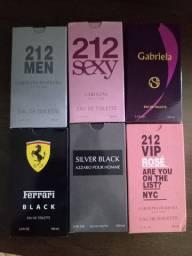 Perfumes 100ml 60 reais cada promoção