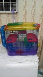 Gaiola para hamster em acrilíco