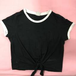blusa preta básica