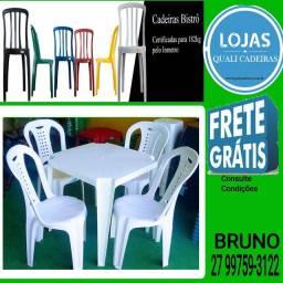 Jogo de cadeiras Plásticas _152kg _ Oferta