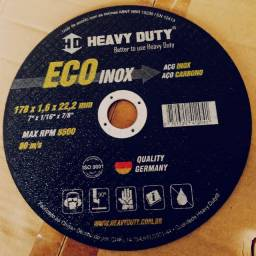 Discos De Corte Ecoinox 178 X 1,6 X 22,2 Heavy Duty 7 Pol