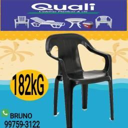 Cadeira Plástica reforça para Comércio 182kg