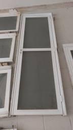 Portas de vidro com alumínio 2,10 M X 60 CM