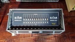 Mesa de Iluminação Dimmer Star 12 canais - 24 saídas com case de transporte