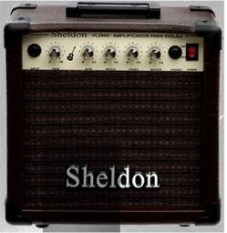 Título do anúncio: Amplificador para Violão Sheldon VL2800 + Cabo P10 X P10 Verde 5 Metros