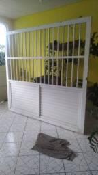 portão garagem de aluminio