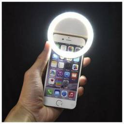 Selfie Ring Light LED recarregável para Smartphone