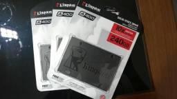 SSD 240GB Kingston Modelo SA400S37/240G - A400 - novos, lacrados