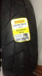Pneu Pirelli Scorpion Trail I 190/55 ZR 17 - 75W TL Zero - Sem uso