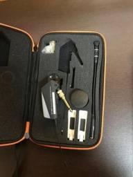 Microfone, transmissor, ear fone