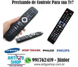 Controle Remoto Tv Lcd Led Philips Cce Semp Toshiba Samsung Philco