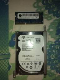 Hd 500 gb e memória ram ddr3 4g