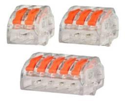 Título do anúncio: Conector Alavanca Tipo Wago 2 3 5 Vias Compacto Emenda