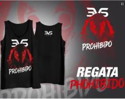 Regata Prohibido 3vs-Preta - camiseta - T. G