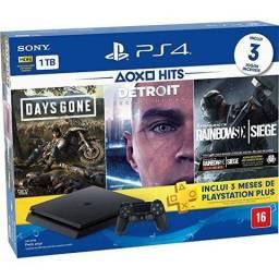 PS4 Slim 1TB 2215b HDR C/ 3 Jogos Novo Lacrado Pronta entrega