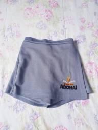 Uniforme short saia Adonai