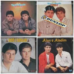 Lote 4 discos LP Vinil Rene e Ronaldo  / Alan e Aladim